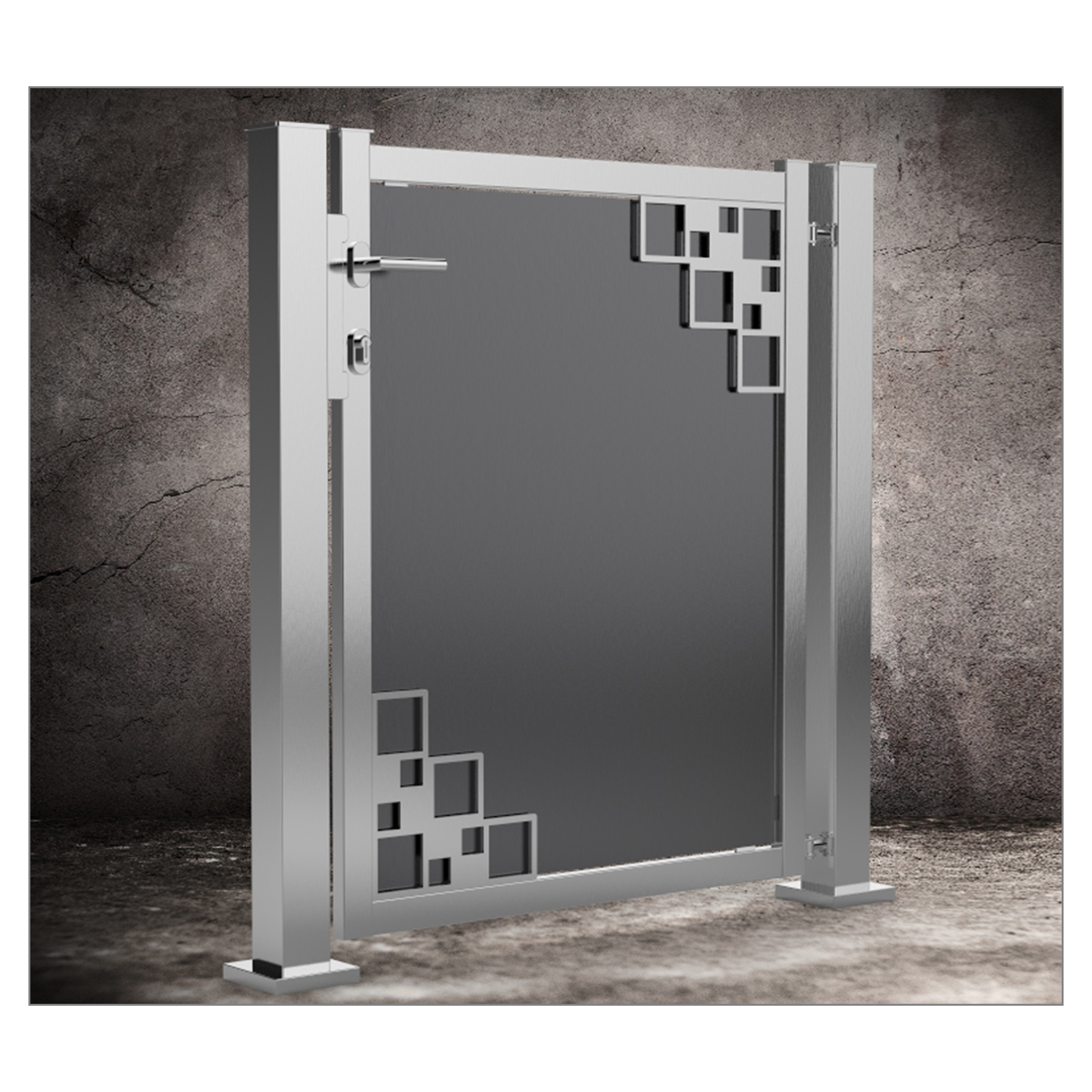 schlosskasten gartentor swalif. Black Bedroom Furniture Sets. Home Design Ideas