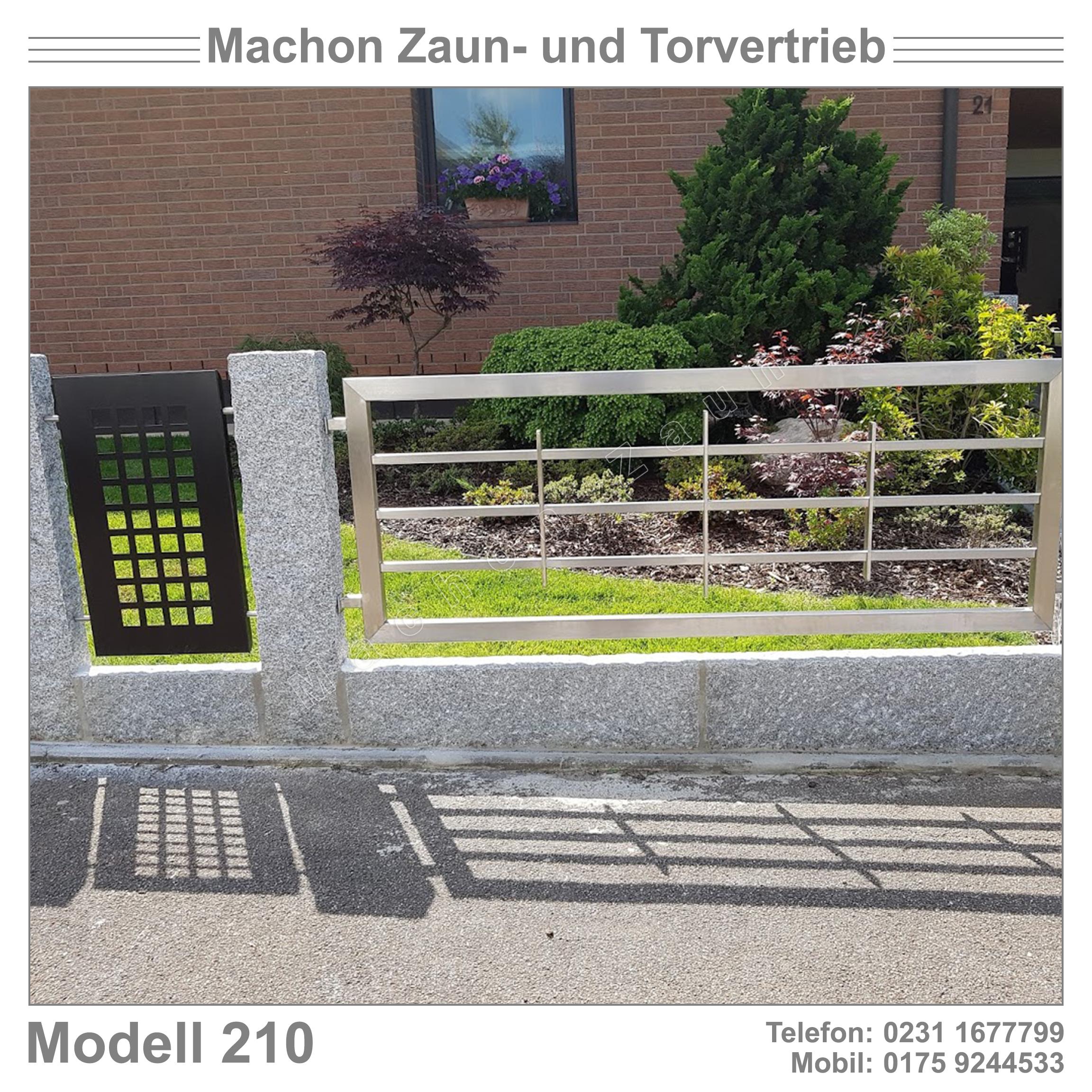 Zaun Gartentor Eisentor Schiebetor Edelstahlzaun