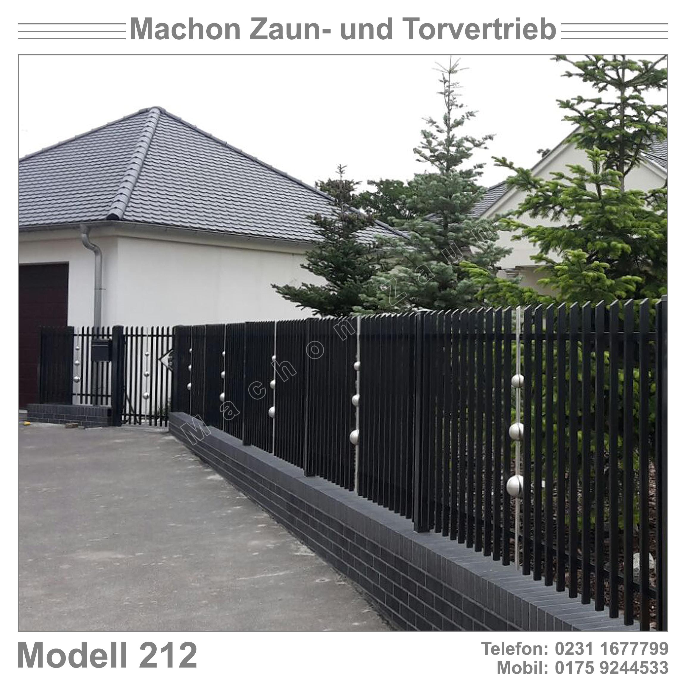 Gländer Zaun Balustrade Gartentor Eisentor Schiebetor
